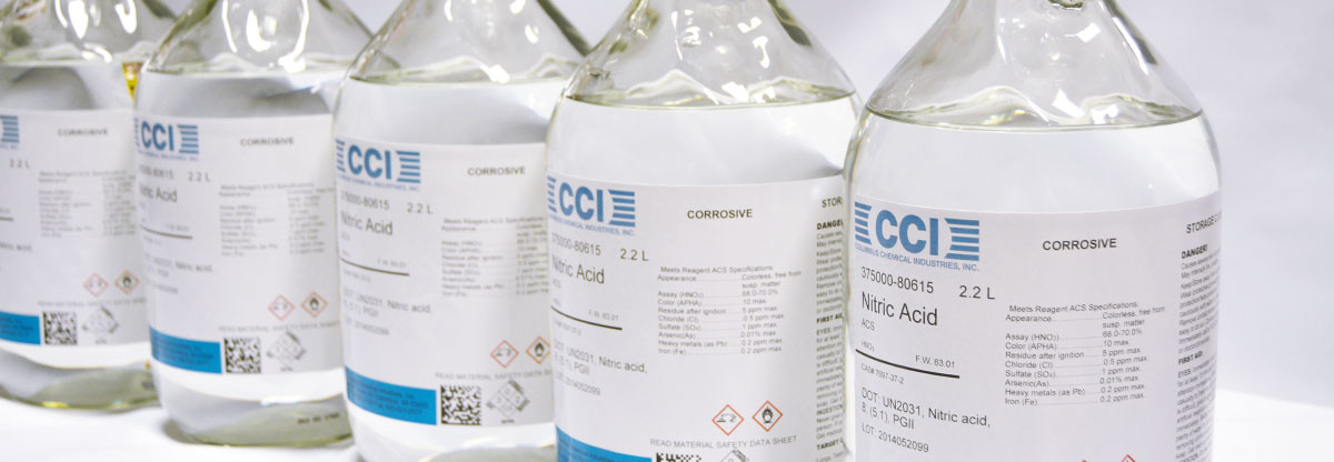 Columbus Chemical Industries Bottled Nitric Acid